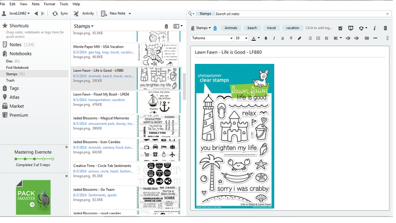 Evernote Print Screen
